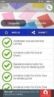 Invitation letter samples apps bei google play screenshot stopboris Images