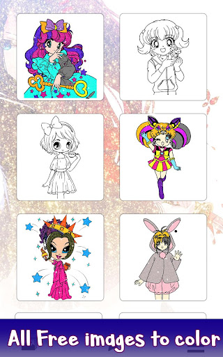 Anime Glitter Color By Number Adult Coloring Book