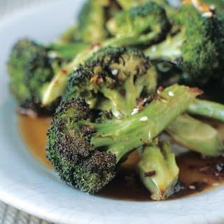 Broccoli with Soy, Rice Vinegar and Sesame Seeds