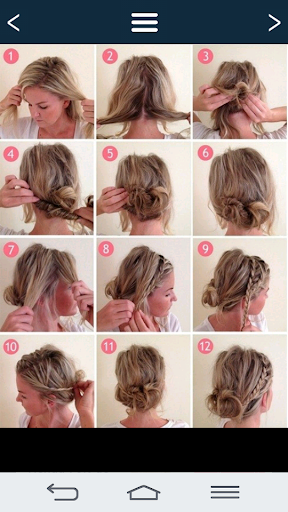 Simple hairstyles. Screenshot