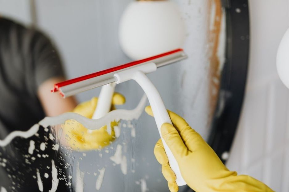 must have cleaning supplies - squeegee