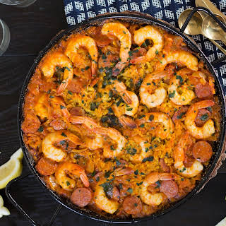 Shrimp and Chorizo Paella.