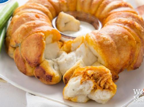 Buffalo Chicken Monkey Bread Recipe