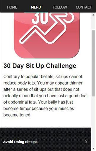 30日のシットアップチャレンジ