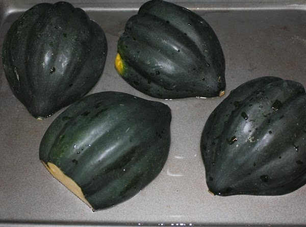 Place squash onto a greased cookie sheet, and place in the oven at 350*...