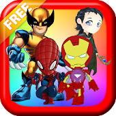 Superhero Games Free:Matching