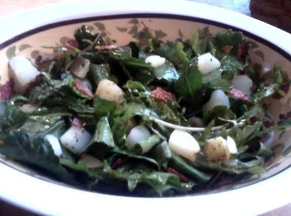 Warm Potato And Dandelion Green Salad