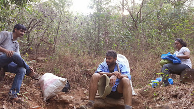 Photo: Govind briefing us about the difficulties faced by the Forest Personnel