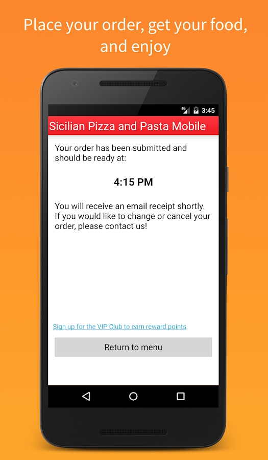 Sicilian Pizza & Pasta Mobile- screenshot