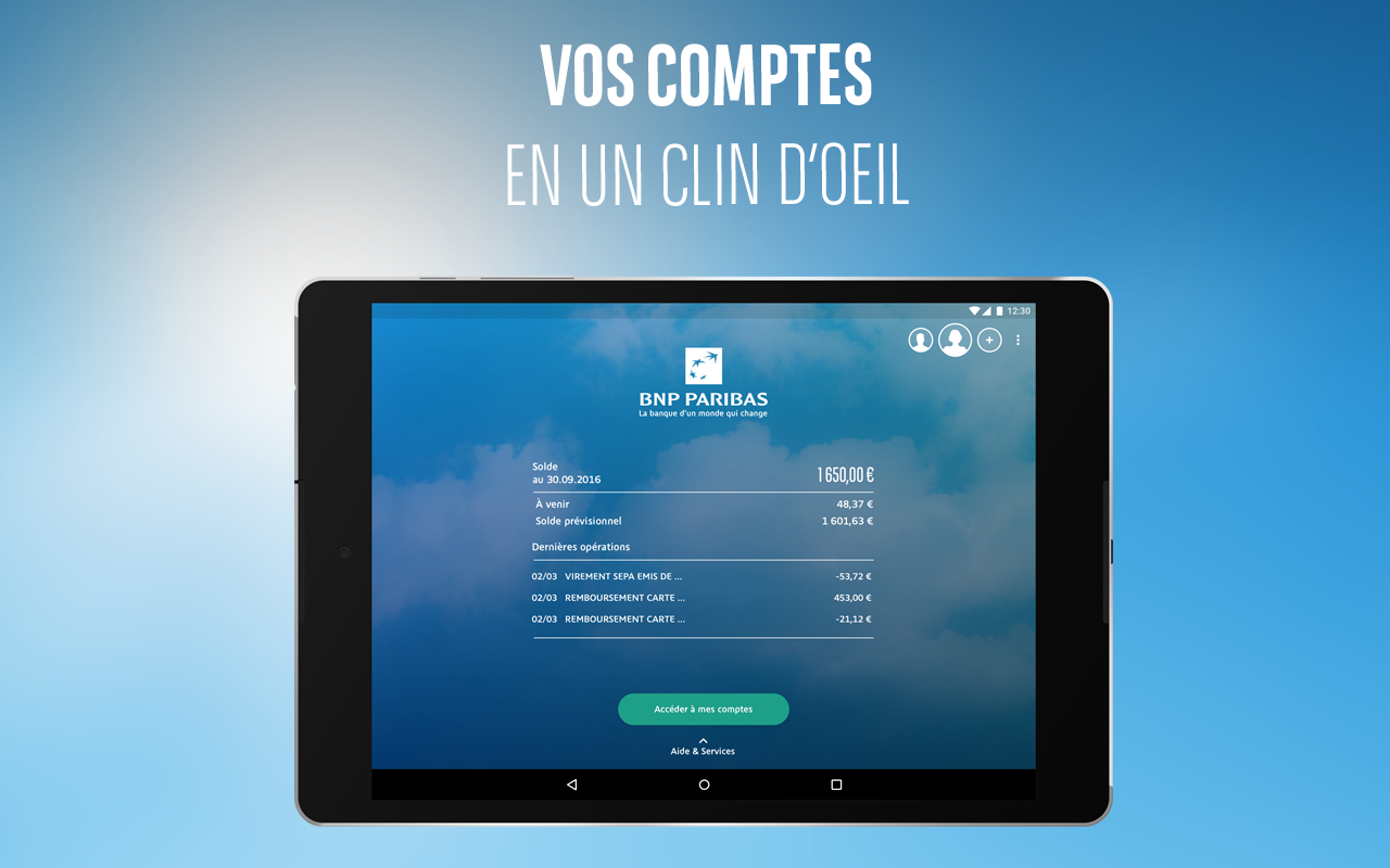 mes comptes bnp paribas applications android sur play