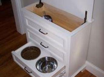 For your pet's station: MAKE IT OUT OF A THREE DRAWER DRESSER! You keep...
