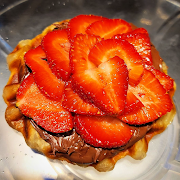 Nutella Strawberry Croffle