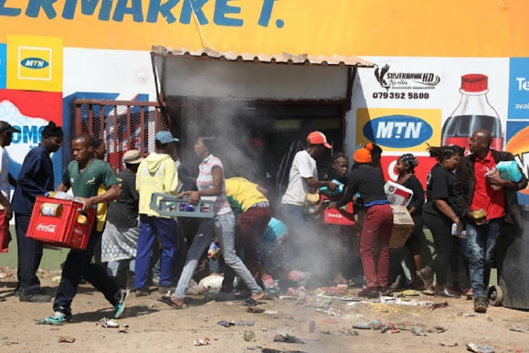 Looting of foreign-owned shops in Soweto early this month.