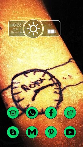 Clock Tattoo on the Arm