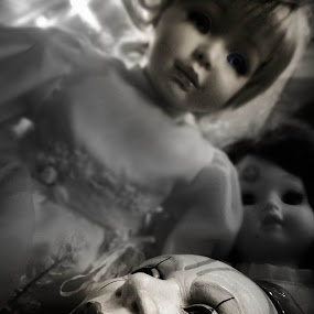 Death of a Clown by Serenity Deliz - Artistic Objects Other Objects ( scary, creepy, dolls, clown, dark, mine )