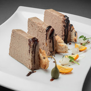 Liver Pate with Beef Brains and Caramelize Red Bilberry