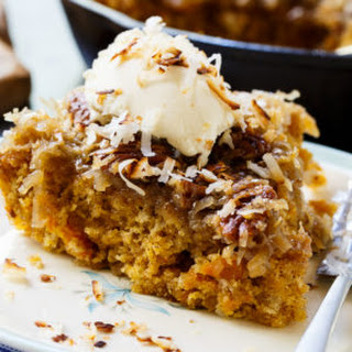 Sweet Potato Skillet Cake with Broiled Coconut Icing