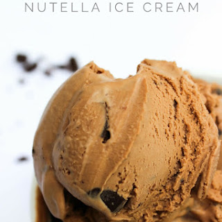 Chocolate Chunk Nutella Ice Cream