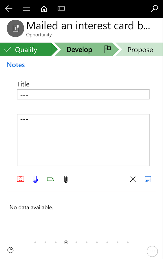 Dynamics 365 for Phones- screenshot
