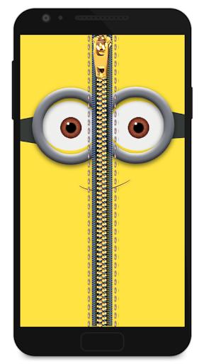 ジッパーロック画面黄色に