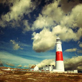 Up to the clouds by Nigel Finn - Buildings & Architecture Public & Historical ( building, portland, bill, lighthouse, dorset )