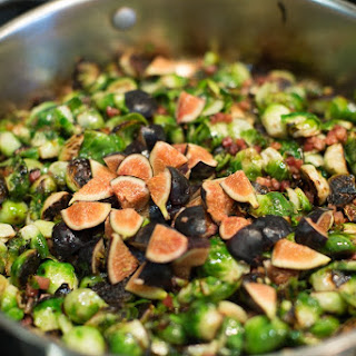 Brussels Sprouts with Pancetta and Figs Recipe