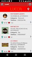 Screenshot of Aperitivi & Cene Lucca