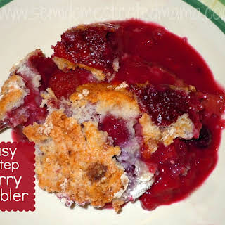 Easy 3-Step Mixed Berry Cobbler.