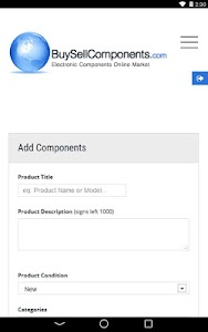 Buy Sell Components screenshot 5