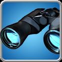 binoculars camera simulator icon