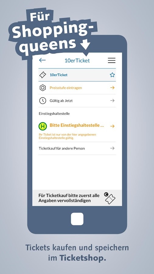 WSW move - Fahrplan- screenshot