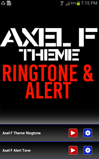 Axel F Ringtone and Alert