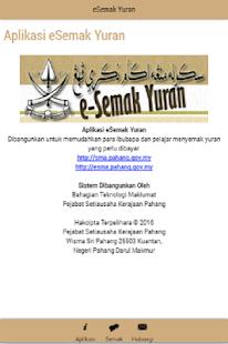 eSemak Yuran - náhled