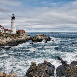 Portland Head Lighthouse  by Margie Troyer - Buildings & Architecture Public & Historical
