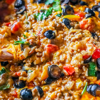 One Pot Spicy Taco Rice Skillet.