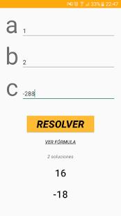 Ecuaciones de Segundo Grado - náhled