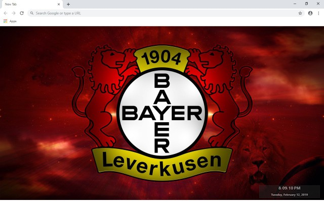 Bayer Leverkusen New Tab Theme