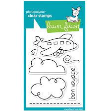 Lawn Fawn Clear Stamps 3X4 - Bon Voyage