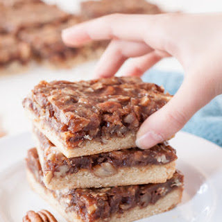 Vegan Paleo Pecan Pie Bars.