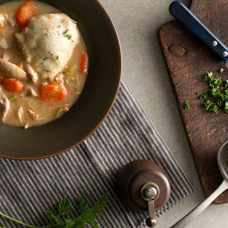 Slow-Cooker Creamy Chicken and Herbed Dumpling