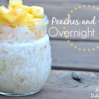 Peaches and Cream Overnight Oats.