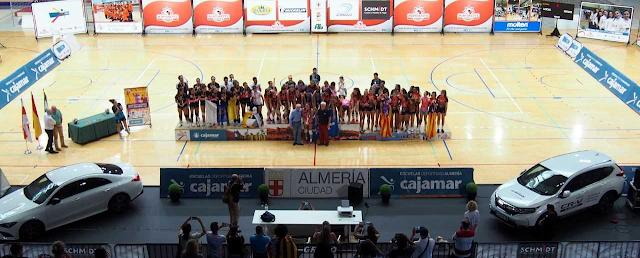 El podio del Campeonato de España.