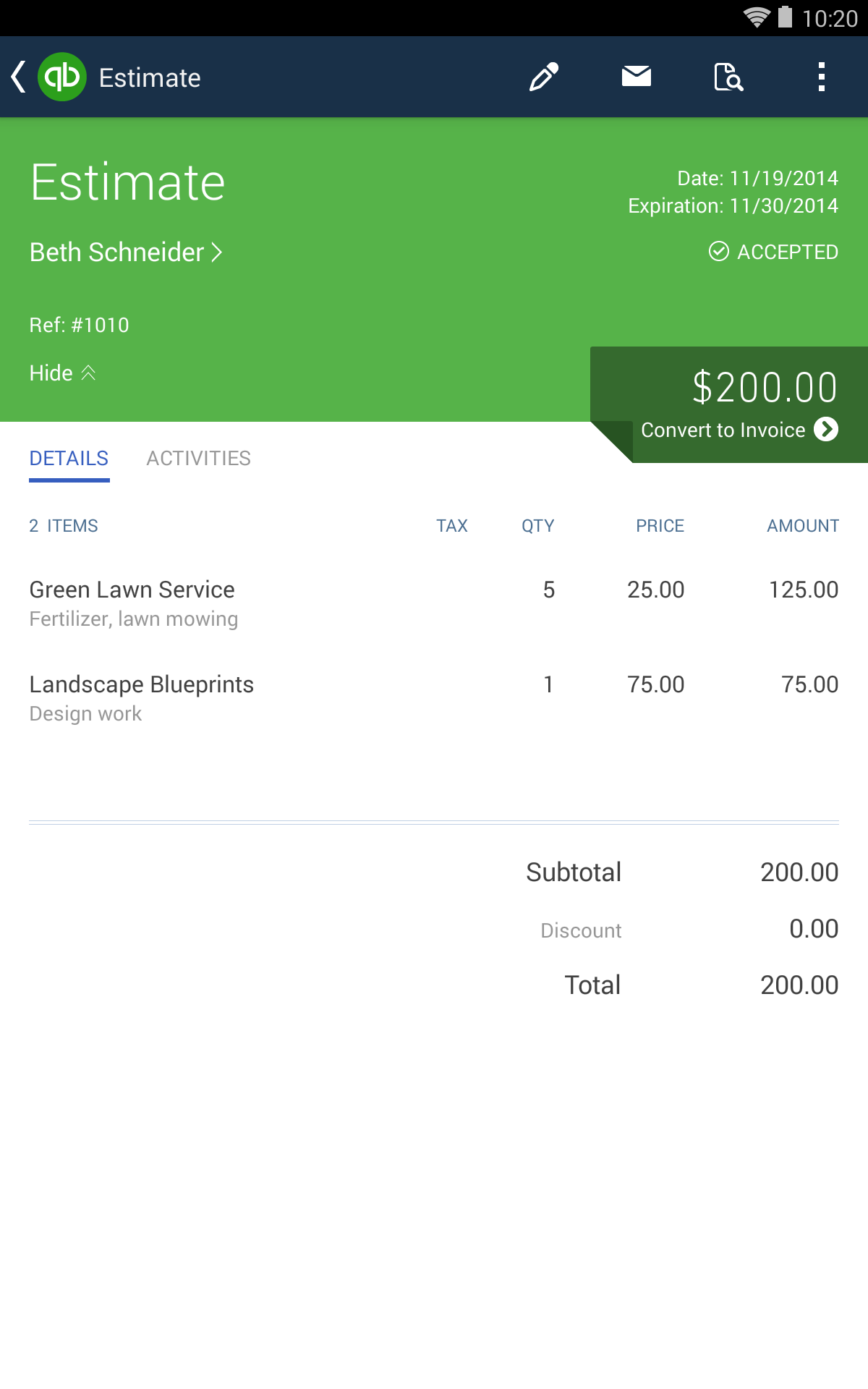QuickBooks Accounting+Invoice screenshot #19