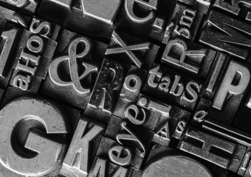 monochrome 3d text font