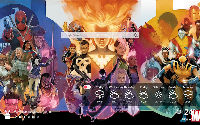 Marvel 80th anniversary New Tab, WallpapersHD