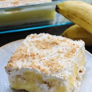 No Bake Banana Pudding Layer Dessert.