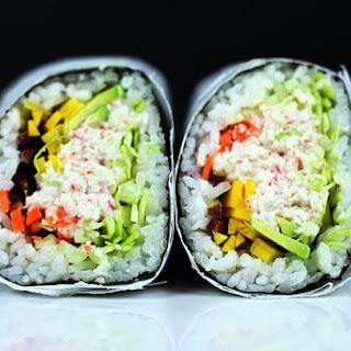 Imitation Crab California Roll Burrito.