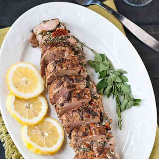 Mediterranean Stuffed Balsamic and Herb Pork Loin #PinkPork.