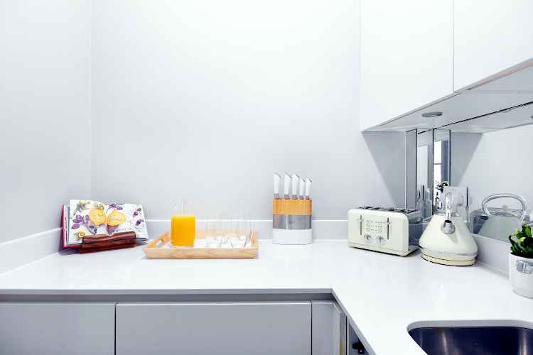 Fully equipped kitchen at Cleveland Residences Fitzrovia Serviced Apartments