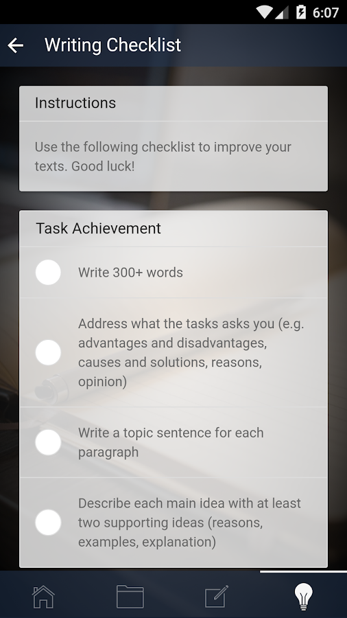 Writing for IELTS and TOEFL- screenshot